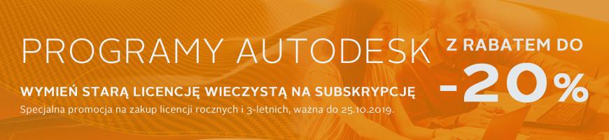 subskrypcja Autodesk 20% taniej
