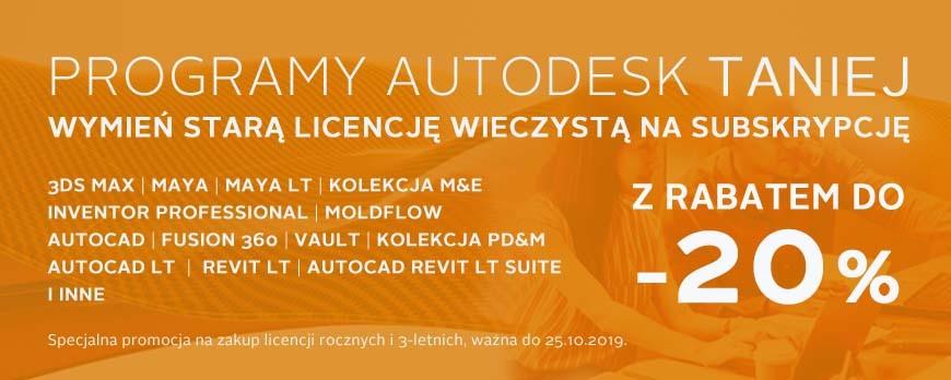 Oprogramowanie Autodesk 20% taniej